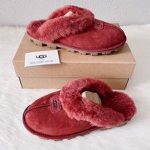 ✨New UGG Coquette Suede Shearling Clog Slippers